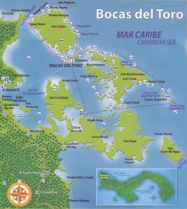 mapa-de-bocas del toro Panama